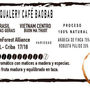 Etiqueta Café en Grano Baobad