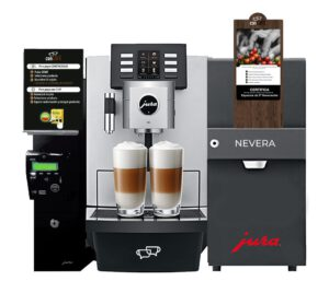 máquina de café superautomática con monedero